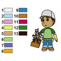 Handy Manny 02 embroidery design